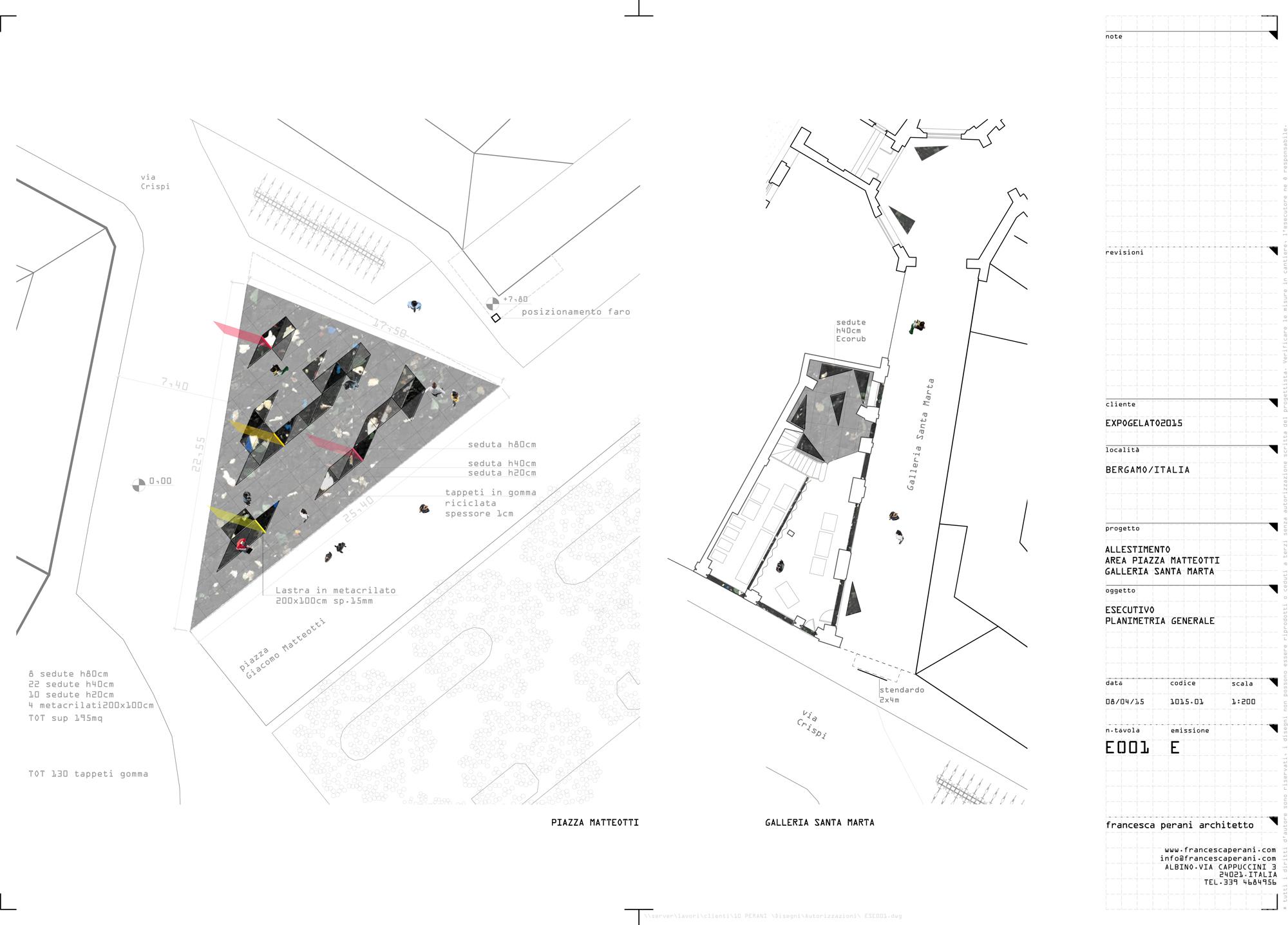 planimetria occupazione suolo Expogelato Ecorub